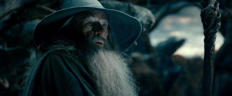 Ian McKellen in una scena de Lo Hobbit: La desolazione di Smaug