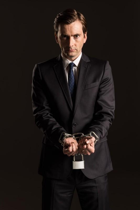 The Escape Artist: David Tennant in una foto promozionale della miniserie