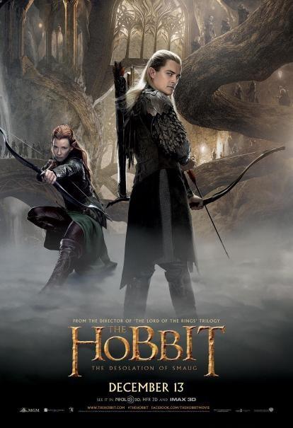 The Hobbit: la desolazione di Smaug - Il character poster di Evangeline Lilly e Orlando Bloom