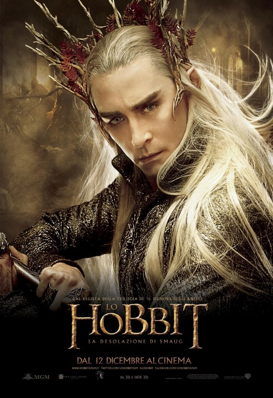 The Hobbit: la desolazione di Smaug - Il character poster italiano di Lee Pace