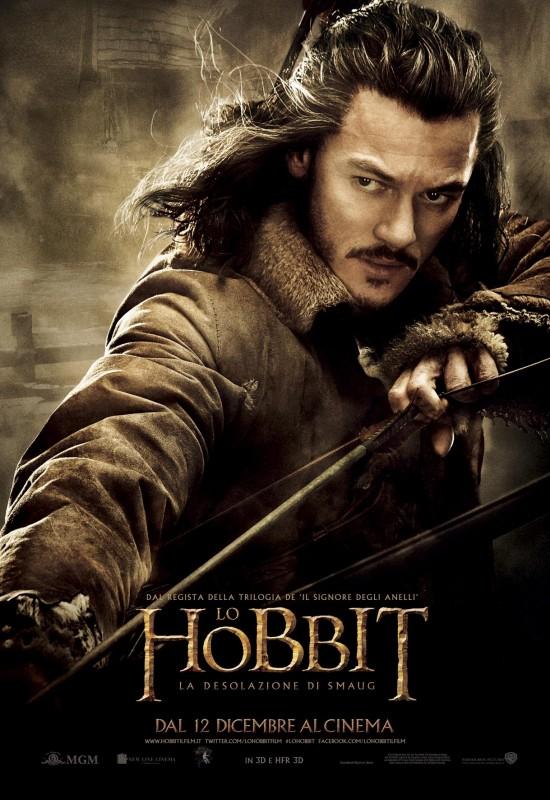 The Hobbit: la desolazione di Smaug - Il character poster italiano di Luke Evans