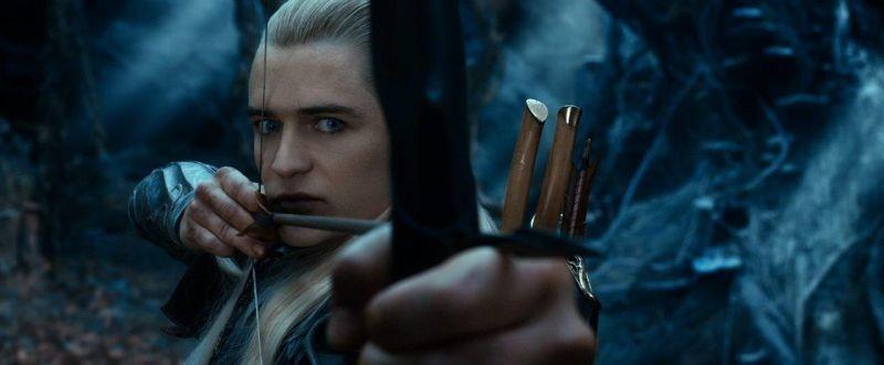 The Hobbit: La desolazione di Smaug, Orlando Bloom in una scena nei panni di Legolas Greenleaf