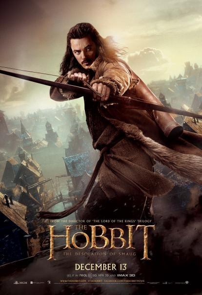 The Hobbit: la desolazione di Smaug - Un nuovo character poster di Luke Evans
