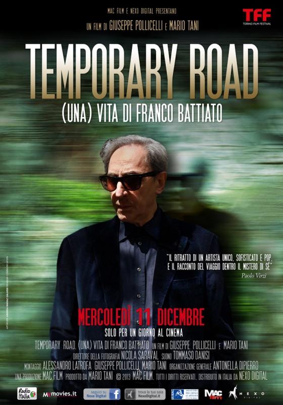 Temporary Road - (Una) vita di Franco Battiato: la nuova locandina