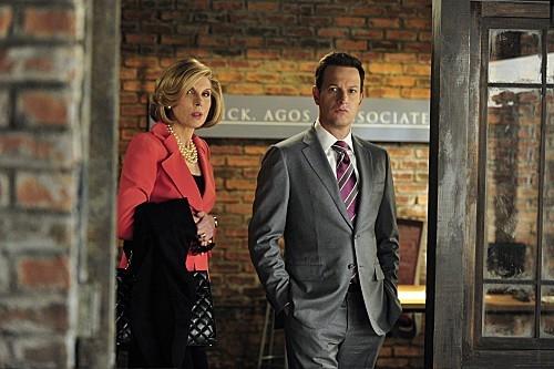 The Good Wife: Christine Baranski e Josh Charles in una scena dell'episodio Whack-a-Mole