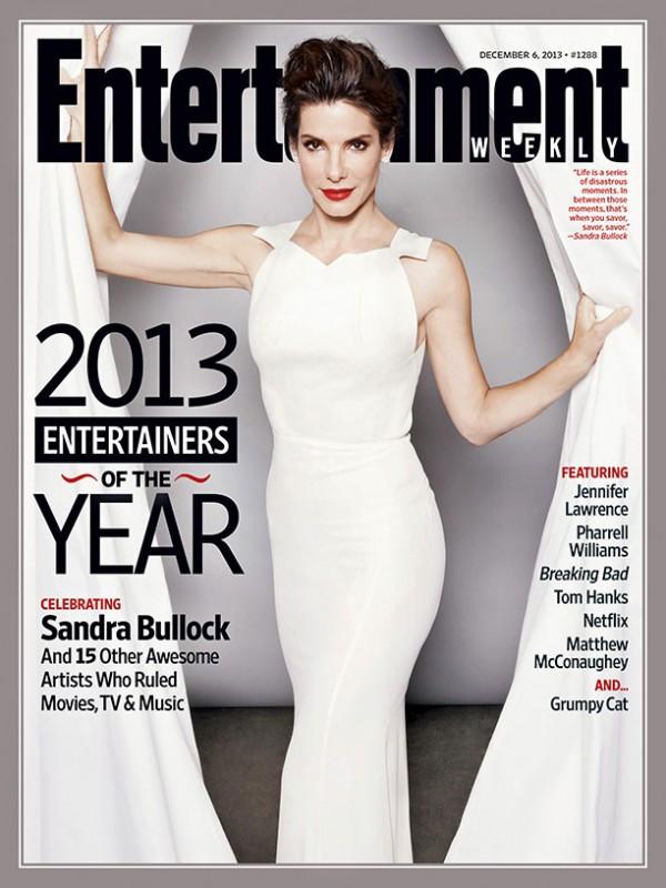 Una bellissima Sandra Bullock sulla copertina di Entertainment Weekly
