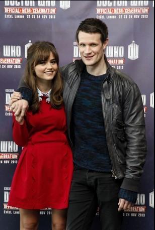 Matt Smith e Jenna-Louise Coleman alla Doctor Who Official 50th Celebration