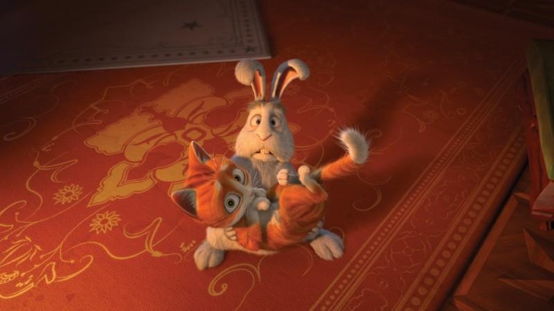 Il castello magico: il gattino Tuono insieme all'amico coniglio