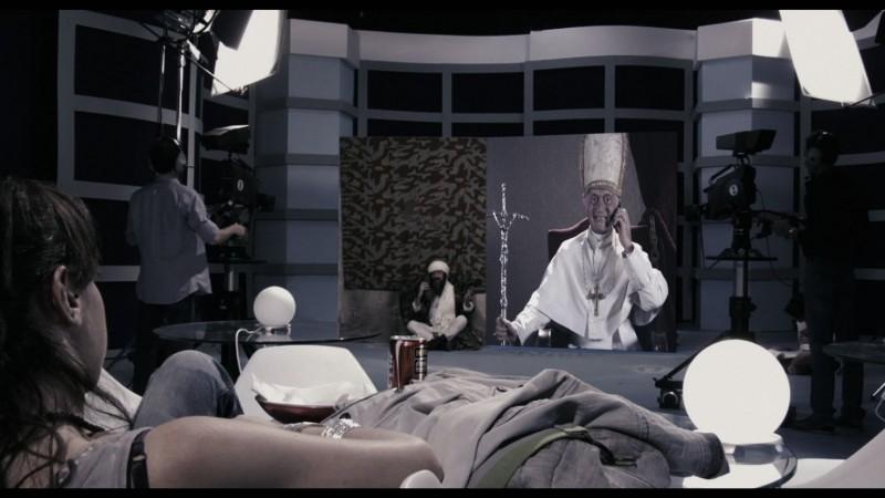 La voce: l'immagine di uno studio televisivo