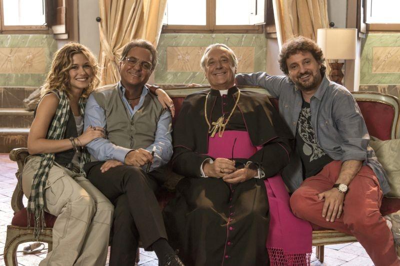 Un fantastico via vai: Alice Bellagamba con Leonardo Pieraccioni, Enzo Iacchetti e Giorgio Panariello in una foto promozionale