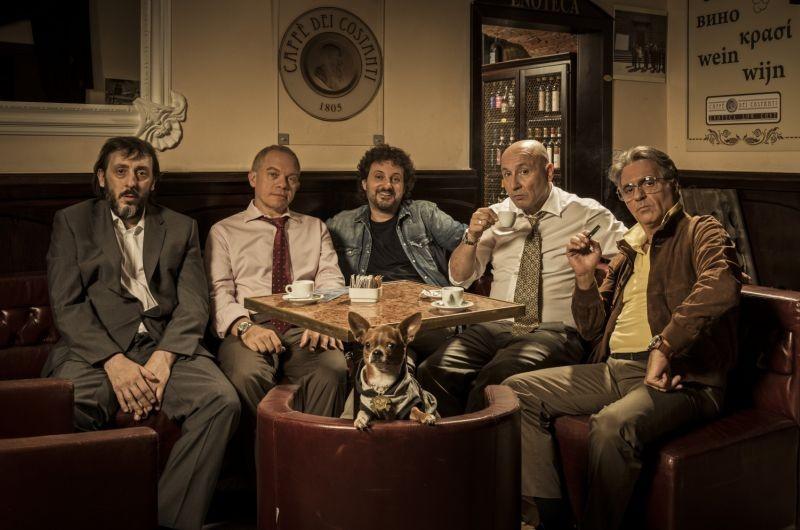 Un fantastico via vai: Leonardo Pieraccioni in una foto promozionale con Massimo Ceccherini, Maurizio Battista, Marco Marzocca e Giorgio Panariello