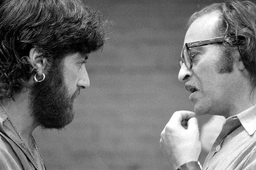 Al Pacino sul set di Serpico (1973) con Sidney Lumet