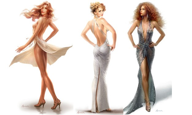 American Hustle - L'apparenza inganna: i bozzetti dei costumi femminili