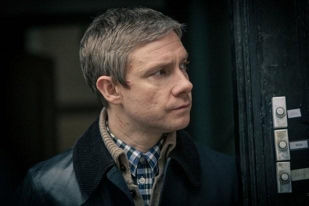 Sherlock: Martin Freeman in un'immagine della terza stagione