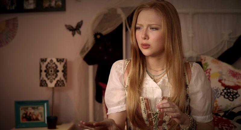 Hansel & Gretel e la strega della foresta nera: Molly C. Quinn è Gretel in un momento del film