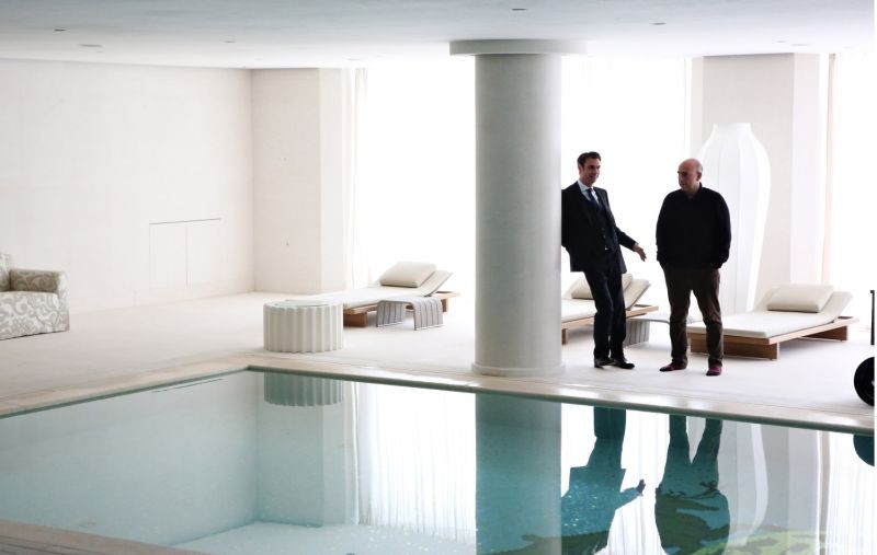 Il capitale umano: il regista Paolo Virzì insieme a Fabrizio Gifuni sul set del film