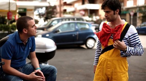 Valerio Di Benedetto e Cristian Di Sante in una scena del film Spaghetti Story