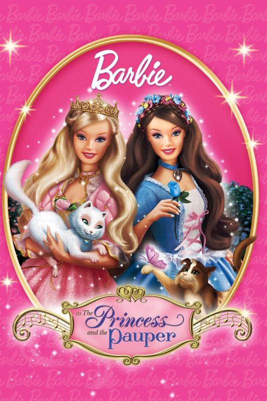 Barbie... la principessa e la povera: la locandina del film