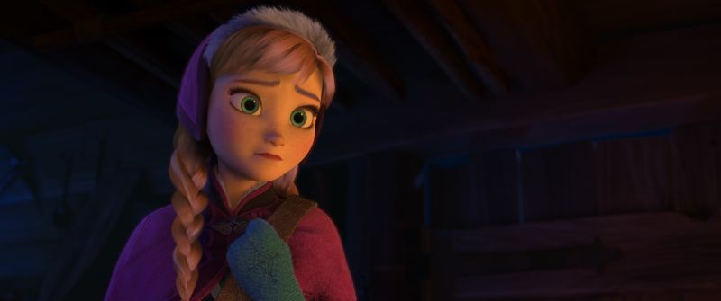 Frozen: la valorosa e ottimista Anna in una scena del film