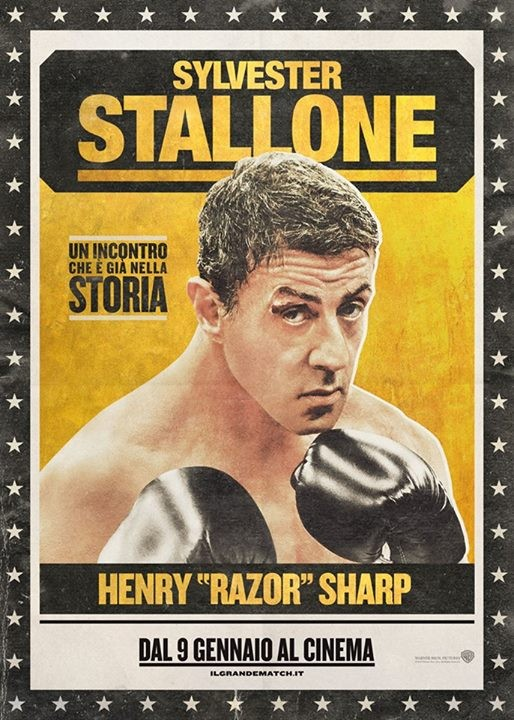 Il grande match: character poster italiano per Sylvester Stallone