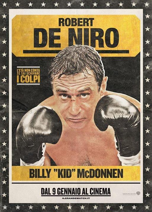 Il grande match: character poster italiano per Robert De Niro