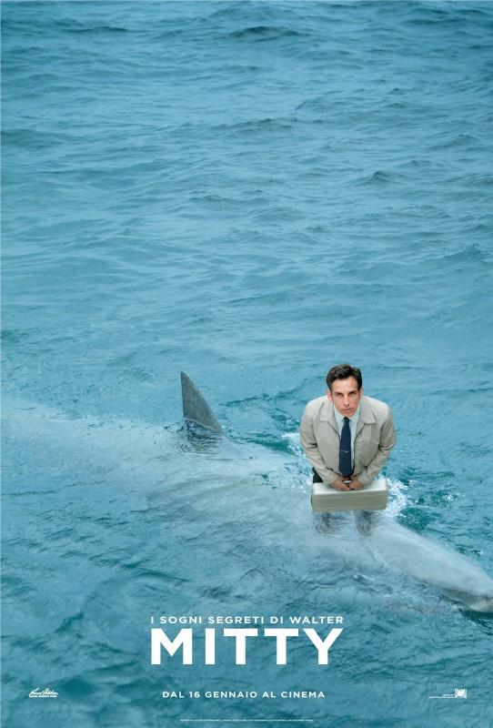 I sogni segreti di Walter Mitty: Ben Stiller in mare nel nuovo character poster italiano