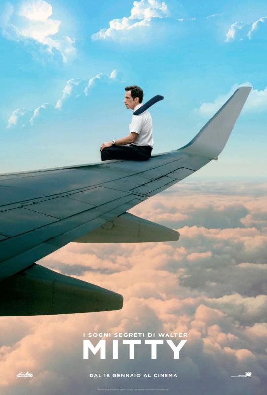 I sogni segreti di Walter Mitty: Ben Stiller tra le nuvole nel nuovo poster italiano