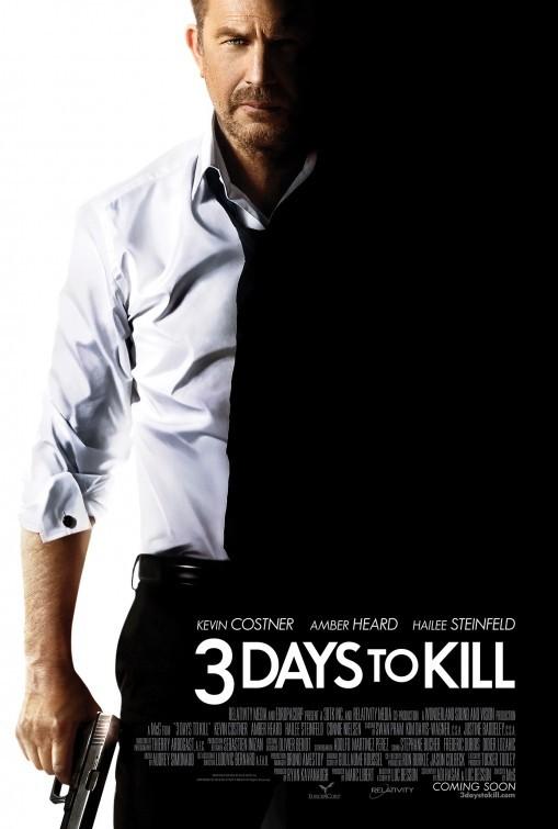 Three Days to Kill: la locandina del film