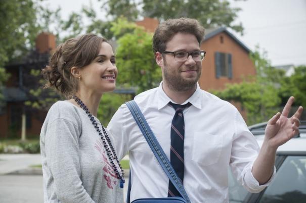 Neighbors: Seth Rogen e Rose Byrne in una scena del film