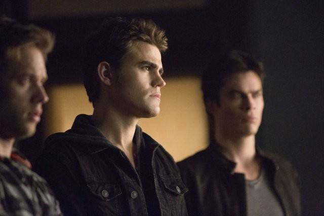 The Vampire Diaries: Ian Somerhalder, Paul Wesley e Shaun Sipos nell'episodio Fifty Shades of Grayson