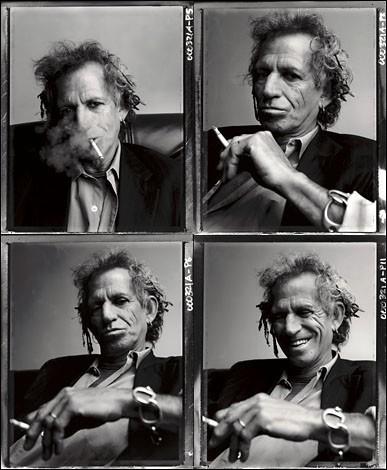 Un ritratto multiplo di Keith Richards