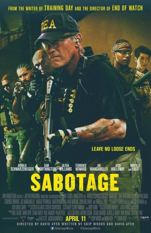 Sabotage: la locandina del film