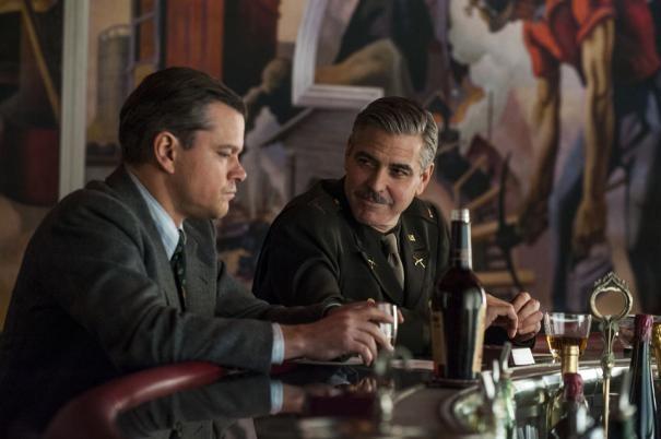 The Monuments Men: George Clooney e Matt Damon a colloquio