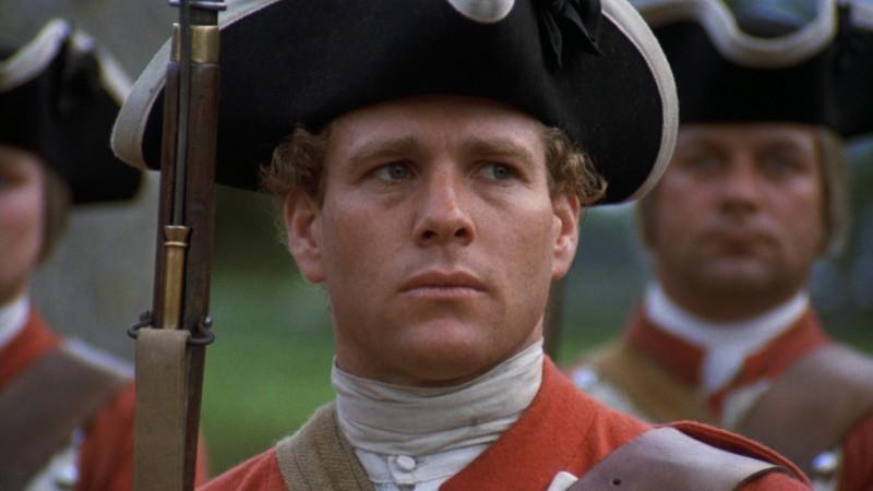 Ryan O'Neal in una sequenza di Barry Lyndon (1975)
