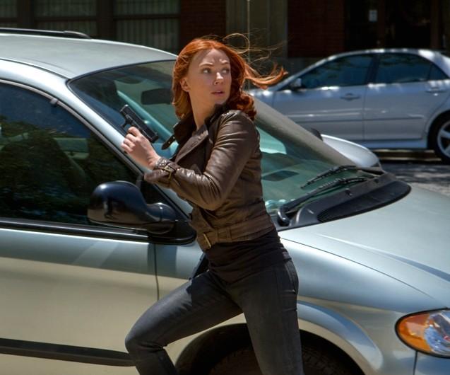 Captain America: The Winter Soldier - Scarlett Johansson in azione
