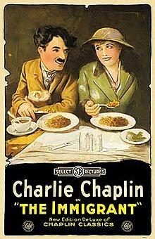 Charlot emigrante: la locandina del film