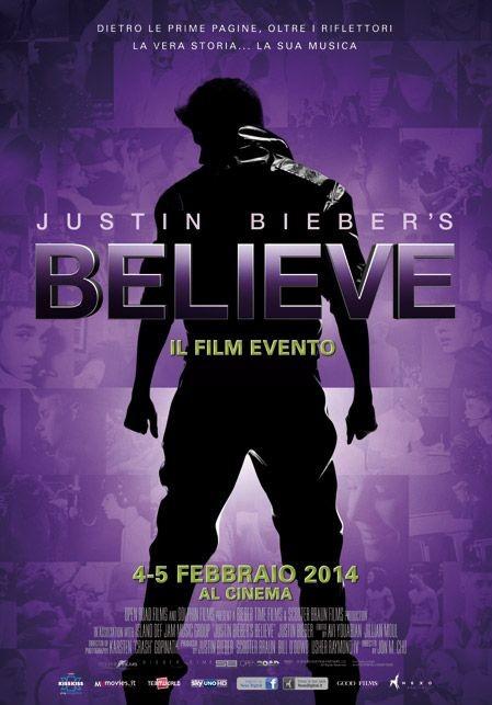 Justin Bieber: Believe, la locandina italiana del film