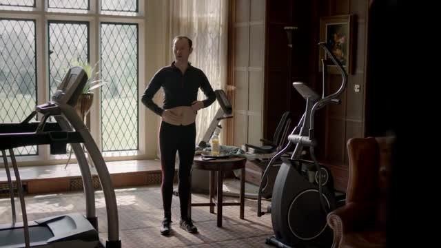 Sherlock: Mark Gatiss in un'immagine dell'episodio The Sign of Three