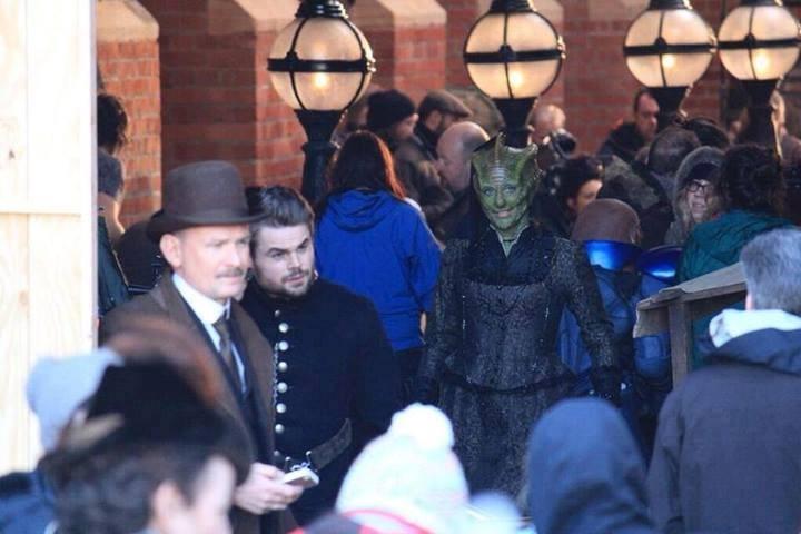 Doctor Who: un'immagine dal set dell'ottava stagione