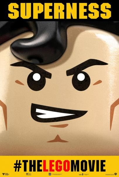 The Lego Movie: aggressivo character poster di Superman