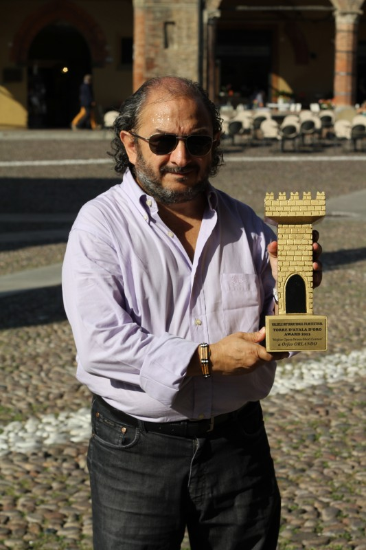 Orfeo Orlando con il premio Italian Movie Award 2013 per il cortometraggio Di Riflesso...