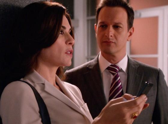 The Good Wife: Julianna Margulies e Josh Charles in una scena dell'episodio Goliath and David