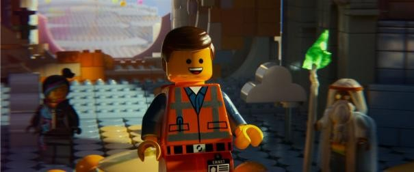 The Lego Movie: Emmett con Vitruvius e Uni-Kitty sullo sfondo