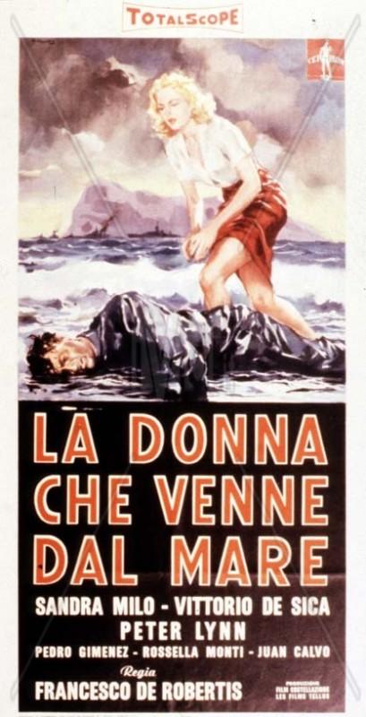 La donna che venne dal mare: la locandina del film
