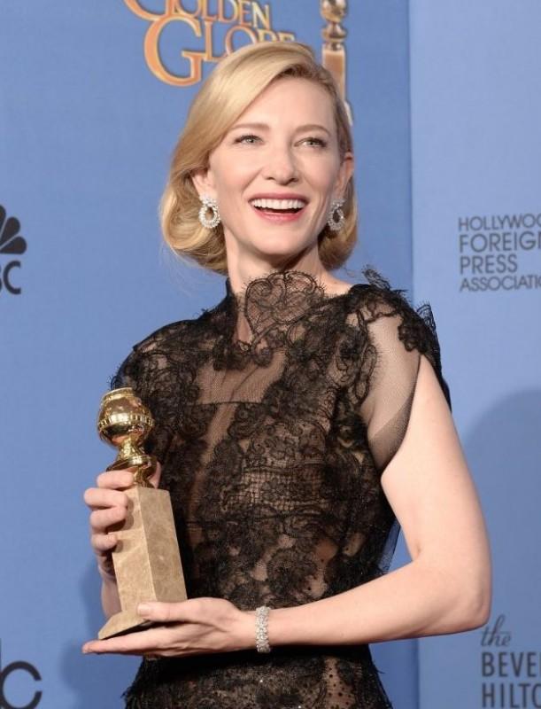 Golden Globe 2014: Cate Blanchett con il premio per la sua memorabile interpretazione in Blue Jasmine