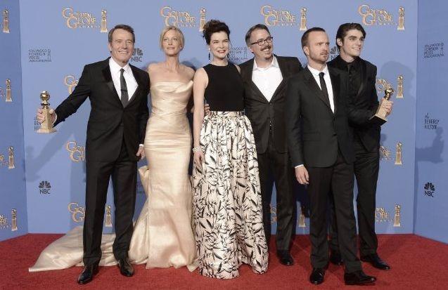 Golden Globe 2014: il cast di Breaking Bad con il meritatissimo premio alla migliore serie drammatica