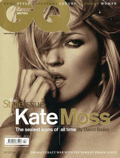 Kate Moss su GQ in cover