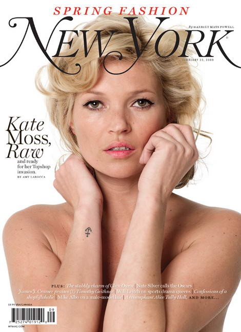 Kate Moss sulla cover del magazine NEW YORK