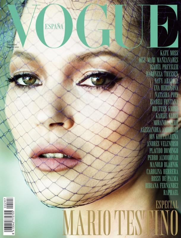 Kate Moss sulla cover di Vogue Spagna (dic. 2012)