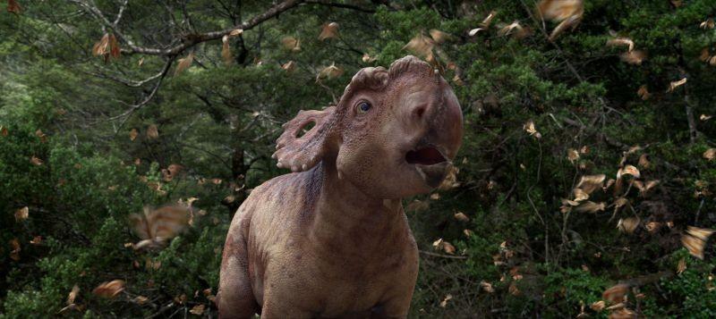 A spasso con i dinosauri: Ginepro in una scena del film